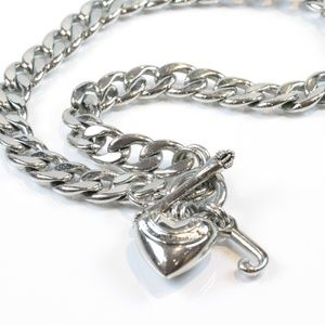 Juicy Couture Starter Necklace Silver Tone